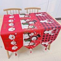 Corredor de mesa de Natal tapeçaria bordada com borlas santa linho para festa de banquete de casamento mesa de mesa de decoração home 33 * 180cm owa8839