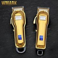 WMARK NG-B NG-B All-Metal Kablosuz Saç Kesme LCD Ekran Ile 2500 mAh Akülü Saç Kesici Altın Renk 210302