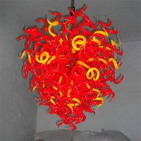 Modern lamp home decorative chandeliers lights indoor decoration led chain pendant lamps hand blown murano art glass chandelier  living room W60xH80cm