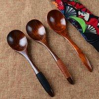 Spoons Creative Natural Wood Spoon Fork Bamboo Kitchen Cooking Dining Soup Tea Honey Coffee Utensil Tools Teaspoon Tableware