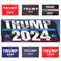 Yeni Trump 2024 Bayrak ABD Başkanlık Kampanyası Bayrak 90 * 150 cm 3 * 5ft Banner Bayrak Ev Bahçe Yard Için 13 Stilleri DHL Ücretsiz Kargo FY6049