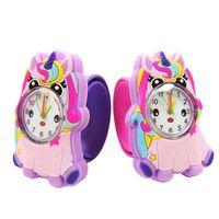 Baby Watch Team Team Enfants 3D Unicorn Enfants Montres pour Garçons Girls Kid Billionné Garde-cadeau Enfant Student Horloge