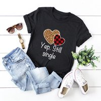 Donna Tshirt Yep Still single tshirt donna estate manica corta manica femmina t-shirt dolce