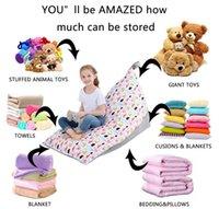 Bolsa de almacenamiento de juguete para niños Portátil Portátil de gran capacidad Tejidos de peluche de felpa Sofá Silla Silla Movimiento Bolsas Inicio Barco de mar ZZC6372