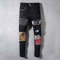 Real Designer Jeans 2021 Menores desgastados en desgaste de los hombres Ropa de lujo Ropa de lujo Motocicleta de moto Hip Hop Denim Hombres Pantalones relajantes