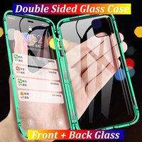 Metal Magnetic Double Sided Glass Case For iPhone 12 Pro Max Mini 12 11 Pro Max XS Max XS XR X 8 7 SE 2020 8 7 Plus Cover