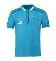 2021 F1 camiseta Fórmula One Car Logo Equipo Uniforme Traje de carreras Camiseta de manga corta Masculina Polo Custom Hecho Coche Club de Coche Ropa
