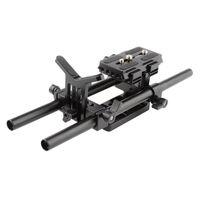 Manfrotto와 유니버설 DSLR 어깨 마운트 지원 장비 퀵 릴리스 플레이트 렌즈 지원 브래킷 카메라 어깨 용