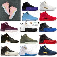 2021 12 12s Homens Mulheres Basquetebol Sapatos Jumpman Escuro Concord Reversse Sports Sneakers Treinadores Game Gold Anniversary Bed # 895
