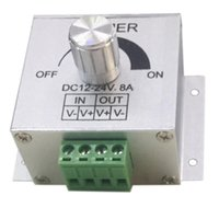 DC12-24V 8A Dimmer LED Dimmer Dimmer Dimmer PWM Controller di dimming PWM per luci a LED Lampade o nastro Controllo regolabile