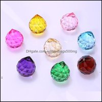Beads Arts, Crafts Gifts Home & Garden30Mm Colorf Ball Prism Suncatcher Crystal Rainbow Pendants Maker Hanging Crystals Prisms For Windows B