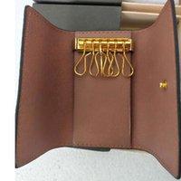 Top Qualität Key Pouch Brieftaschen Hohe Qualität Berühmte klassische Designerinnen Frauen 6 Schlüsselhalter Münze Geldbörse Leder Männer Kartenhalter Brieftasche Handtasche