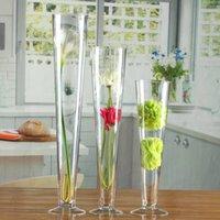 Vasen glas vase nordic hochzeitstraßenführer transparent hohe container kreative dekoration für