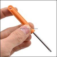 스크류 드라이버 손으로 홈 Gardenscrewdrivers 3 * 108mm 공구 필립스 3.0 Xbox360 휴대 전화 500pcs / lot CGTW에 대 한 구멍이있는 슬롯 T6 T8 T10