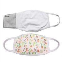 DHL Frete Bruxas Face Mask Adultos Crianças com bolso de filtro Pode colocar PM2.5 Junta de Prevenção de Poeira para Impressão de Transferência de DIY