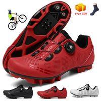 Calçados Calçados Sapatos Esporte ao Ar Livre Homens Auto-bloqueio Não-Slip Mountain Bike Racing Road Men MTB Sneakers