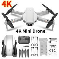 Kameralar Mini Drone 4K Profesyonel Kamera 2.4 GHz HD Katlanabilir Quadcopter FPV'ye Dön Bir Tıklayın Beni Takip Edin RC Dron Bırak Gemi