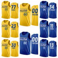 Jersey All-Star Basketball Stephen Curry Luka Doncic Lebron 23 James Harden Kawhi Leonard Kyrie Irving Giannis Antetokounmpo Joel Embiid Hommes