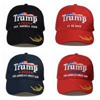 8 스타일 최신 2024 트럼프 야구 모자 미국 대통령 선거 Trmup 동일한 스타일 모자 Ambroidered 포니 테일 볼 캡 해상 배송 Dlla388