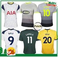 20 21 Kane Son Bergwijn Ndombele Futebol Jerseys 2021 Tottenham Lucas Dele Jersey Camisa de Futebol Lo Celso Bale Adulto Men + Kids Kit