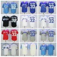 1992 2008 Retire Baseball 32 Roy Halladay Jersey Vintage FLEXBASE FLEAN BASE PULTOUTER AZUL BLANCO ROJO GRIS NEGRO COOPERSTOWN cosido retro
