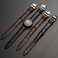 Watch Bands Top Leather 12-24MM Cowhide Strap Butterfly Double Snap Unisex