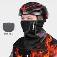 Cycling Caps & Masks Winter Fishing Warm Mask Outdoor Sports Bandana Scarf Hiking Face Cover Neck Gaiter Bike Half Headband Men