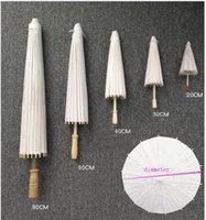 60cm Chinese Japanesepaper Parasol Paper Umbrella For Wedding Bridesmaids Party Favors Summer Sun Shade Kid Size 10pcs