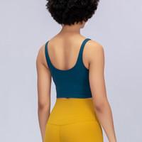 Novo Yoga Vest Alinhe Alinhar Mulheres Align Esporte Esporte Yoga Vest Ginásio Bra Fitness Running Jogging Tops Gym Womens Roupas Venda Quente