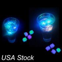 LED Eiswürfel Blitzlicht, Hochzeitsfester Licht Eis, Kristallwürfel Farbe Blitz, Weihnachtsgeschenke
