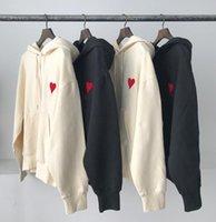 باريس الفاخرة ima الرجال هوديي التطريز الأحمر القلب البلوز سترة الأزياء طويلة الأكمام البلوز هوديس الشارع الشهير