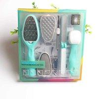 8 in 1 Verwijderbare Pedicure Voeten Raspers Callus Shaver Remover Vervangbaar Voetbestand Handvat Hard Dood Skin Trimmer Manicure Beauty Care Tools
