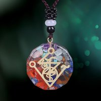 3 шт. Оргонитная подвеска символ ожерелье чакра заживление энергии Ожерелье медитация ювелирные изделия защита органа оргонита