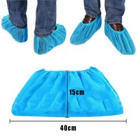 200pcs Disposable Protective Shoe Cover Dustproof Non-slip Safety Shoes Cover Suit Floor Protector Thick Cleaning Overshoes GWC7298