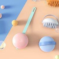 Yumuşak Silikon Şampuan Fırça Kafa Vücut Derisi Bakım Banyo Spa Zayıflama Masajı Exfoliator Scrubber Saç Yıkama Tarak Duş Fırçalar 4879 Q2
