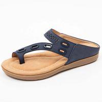 2021 Summer Sandlas Women'S Flip Flops Simple Retro Women Flat Shoes Slippers Woman Beach Sandals Female Shoes Sandalias Mujer