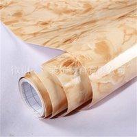 뜨거운 대리석 필름 셀프 접착 벽지 욕실 주방 찬장 조리대 종이 PVC 방수 벽 스티커 726 K2