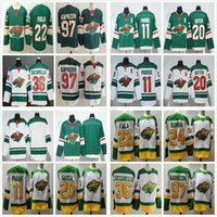 2021 retro retro blanco verde Minnesota salvaje 11 Zach Parise Ryan Suter Mats Zuccarello Kevin Fiala Matt Dumba Kirill Kaprizov Hockey Jersey