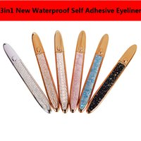 Hot3in1 Waterproof Self Adhesive Eyeliner False Eyelashes No...