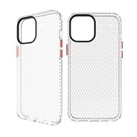 High Quality TPU Electroplated Button transparent Cases honeycomb design heat radiation iphone case for 12promax XR XSMAX 11 11PRO