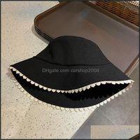 Caps Hats, Scarves & Gloves Fashion Aessorieshat Female Beige Black Lace Stitching Fisherman Summer Outdoor Designer Sun Wide Brim Hats Drop