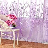 Cortina cortina janela sheer voile tulle cortinas quarto sala de estar varanda ameixa flor tube sz