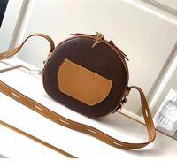 Petite Boite Chapeau Boite MM PM Bolsa Bolsa Bolsa Totes Original Cowhide Trim Canvas Hatbox Sacos Crossbody Messenger M52294 M43514