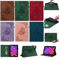 Fashion Butterfly Flower Leather Case For Ipad 10.2 11 2021 10.5 Mini 6 1 2 3 4 5 ipad Air 7 8 9 9.7 Pro Retro Business Wallet Frame Pocket Credit ID Card Slot Holder Flip Cover