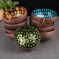Bowls Coconut Shell Storage Bowl Natural Color Keys Mosaic Candy Water Paragraph Creative Decorative Wooden F