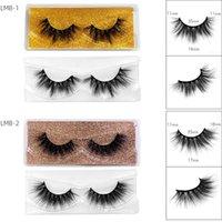 3D Mink False Eyelashes With Crystal Brush Colorful Tray Natural Fluffy Fake Eyelash In Bulk DIY Lashes Extension Makeup Tool