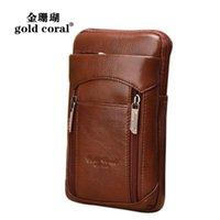 Waist Bags Genuine Leather Belt Men Small Fanny Pack Phone Pouch Wallet Bag Male Travel Shoulder Messenger Crossbody