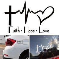 Faith Hope Love Vinyl Car Sticker Dibujos animados Jesús Cristiano Religioso Biblia Verso para la ventana de la ventana del coche Decoración del cuerpo