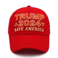Trump 2024 Cap Save America Bordado Sombrero de béisbol con correa ajustable
