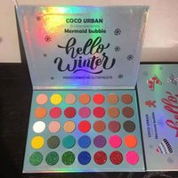 Göz Farı 35 Renkler Mermaid Kabarcık Merhaba Kış Preslenmiş Pigmentli Ve Glitter Göz Farı Paleti Uzun Ömürlü Renkli Neon
